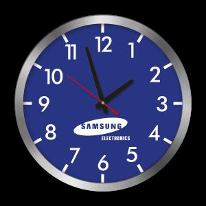 Samsung Wanduhr bedruckt