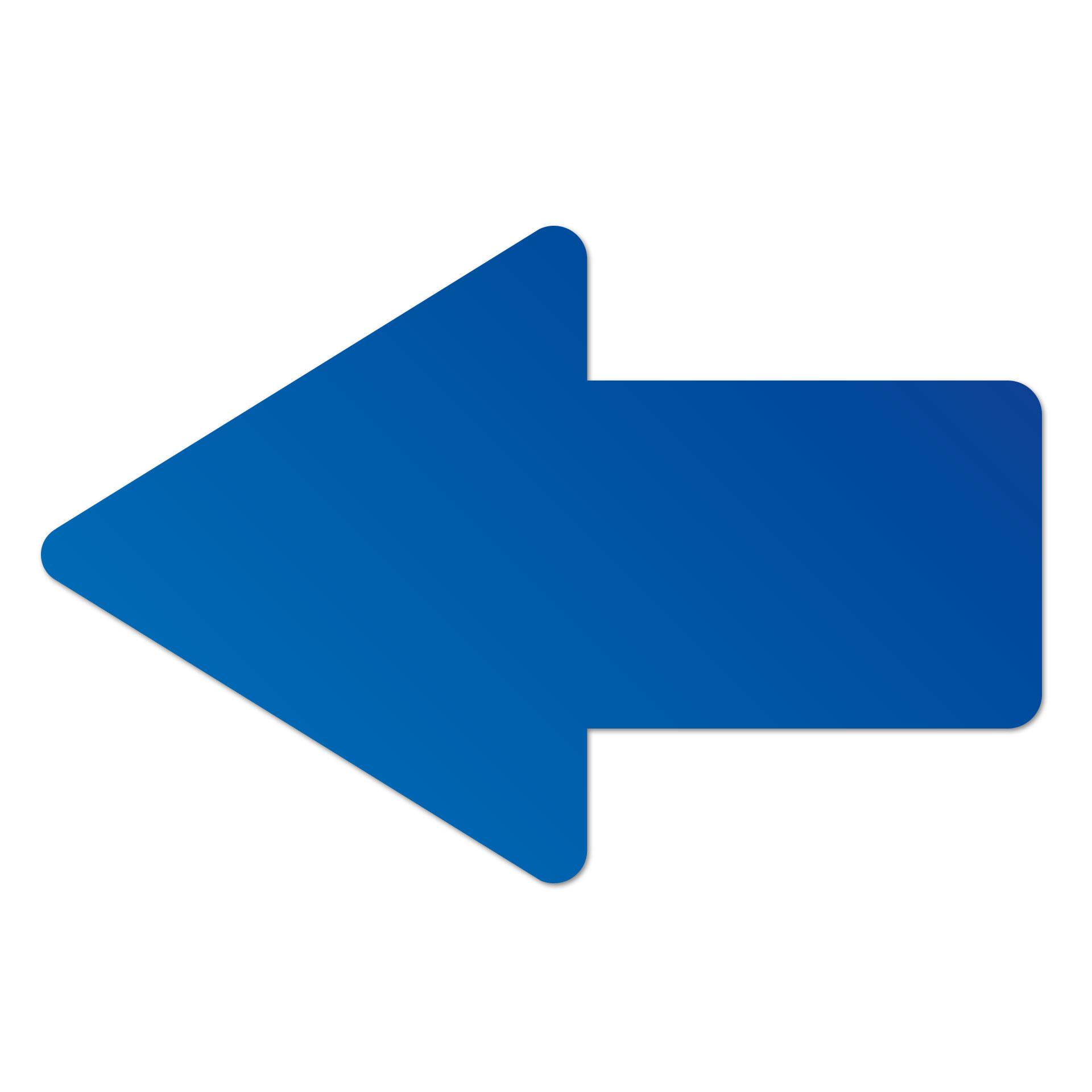 Pfeil links Blau